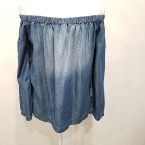 New Anthropologie Cloth & Stone S Top Chambray